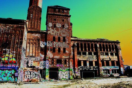 Alte Eisfabrik, überzeichnet