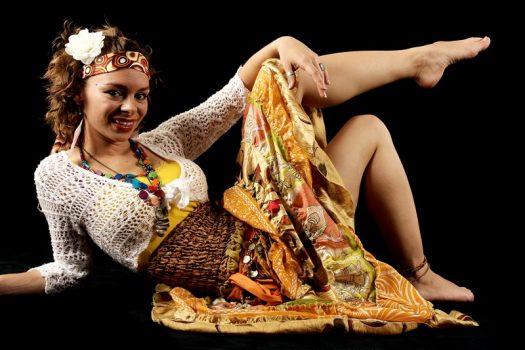 Die zauberhafte Amelie als Zigeunerin