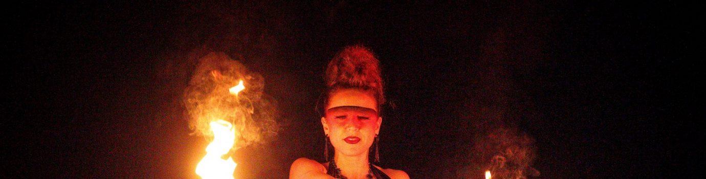Feuershow mit Lunart-X