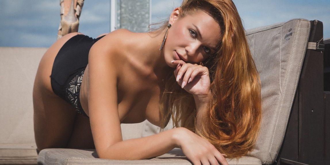 Olga auf der Dachterasse des Weekend